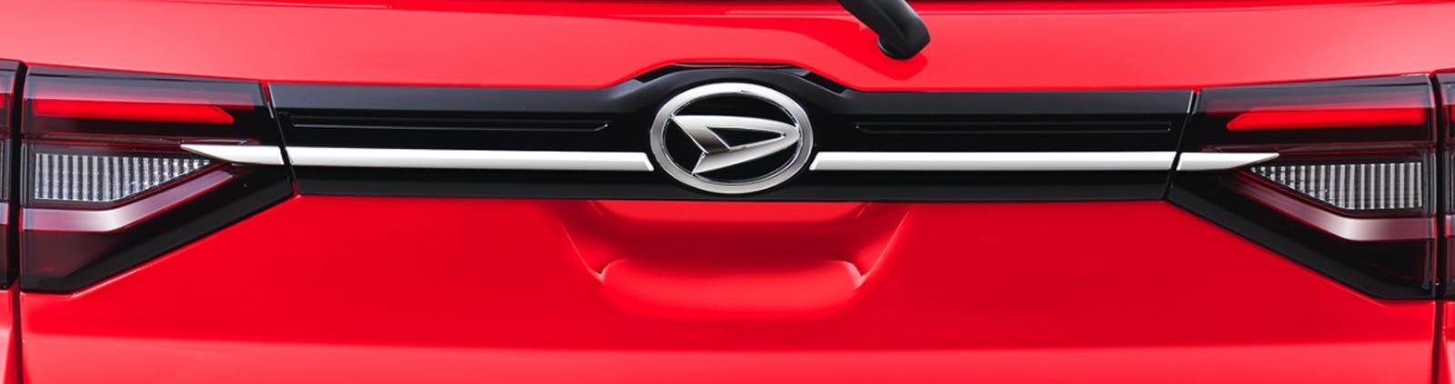 Harga dan Spesifikasi Daihatsu Rocky Pekanbaru - Black Backdoor Garnish with Chrome List (ADS)
