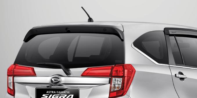 Harga dan Spesifikasi Daihatsu Sigra Pekanbaru - REAR SPOILER
