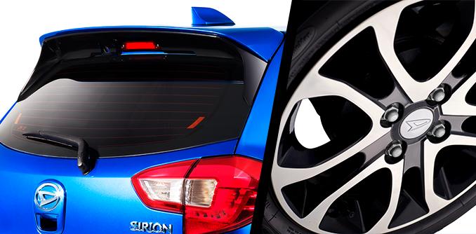 Harga dan Spesifikasi Daihatsu Sirion Pekanbaru - REAR SPOILER AND NEW ALLOY WHEEL